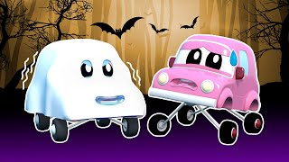 HALLOWEEN: Super RACING CAR chasing a terrifying GHOST | Super Truck | Car City World App