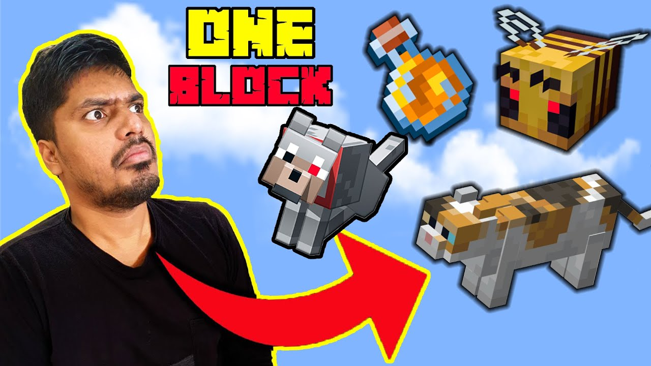 Making EVIL HONEY BEE's Army in One block  | minecraft hindi