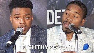 ERROL SPENCE & SHAWN PORTER GO AT IT; TRADE WORDS AND ARGUE ABOUT WHO IS THE CASH COW BETTER BOXER