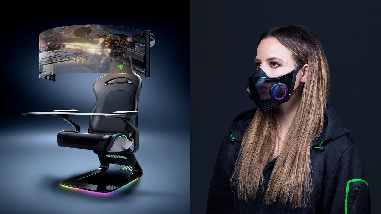 Razer's Crazy CES concepts: Coronavirus Mask and a MASSIVE chair setup