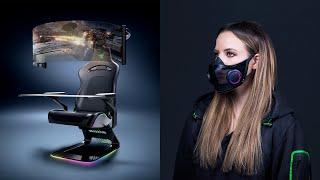 Razer s Crazy CES concepts Coronavirus Mask and a MASSIVE chair setup