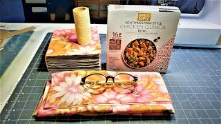 GOT A PILLOW CASE AND A BOX? Let's Make a Junk Journal! A DIY BOOK! The Paper Outpost!