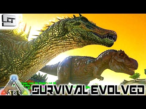 ARK: Survival Evolved - TAMED A TREX AND SPINOSAURUS! E13 (