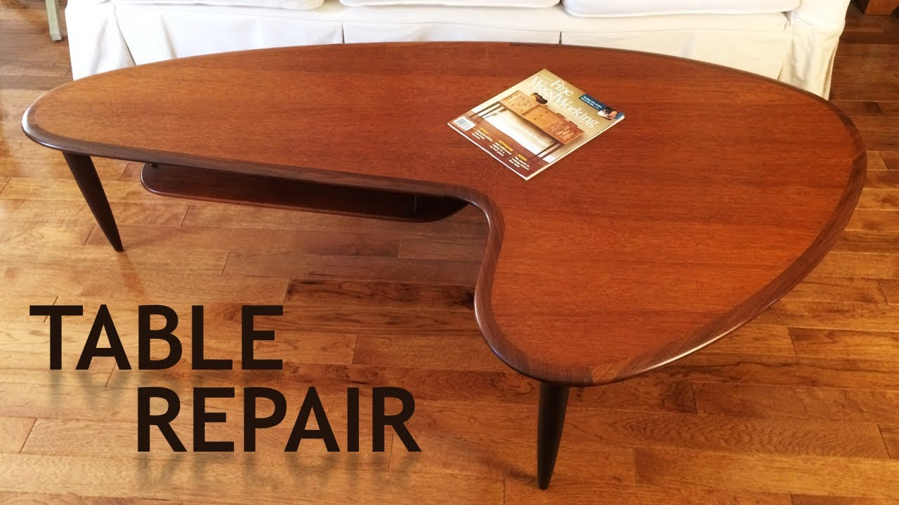Mid Century Modern Teak Table Repair How To Furniture Restoration Youtube