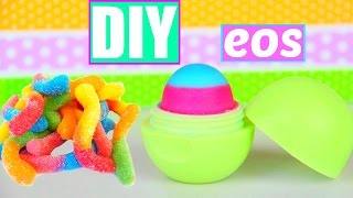 DIY EOS out of Gummy Worms! Make lip balm out of Candy!