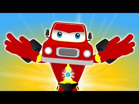 Red Super Car Ricky - City Hero On A Mission | Best Animation Video For Kids Children Cartoons