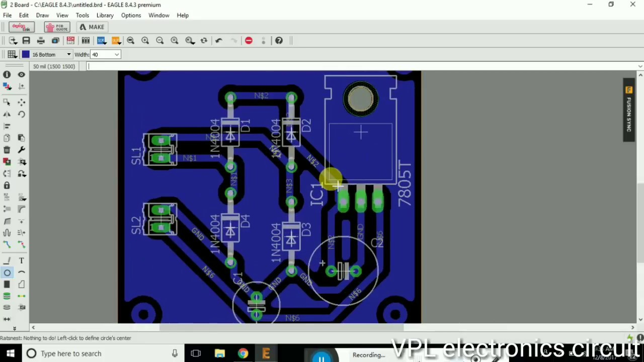 how to use eagle and make circuit and pcb in hindi - YouTube