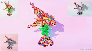 Quilling fish / How to make fish quilling - paper art quilling