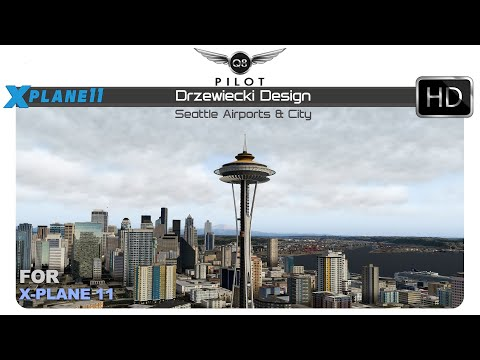 Drzewiecki Seattle Airports and City for X Plane 11