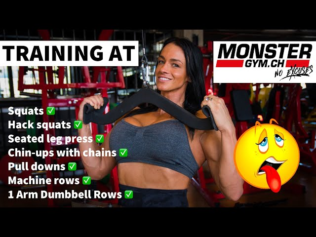 Pull ups with Chains !! | Squats | Monster Workout | Cindy Landolt