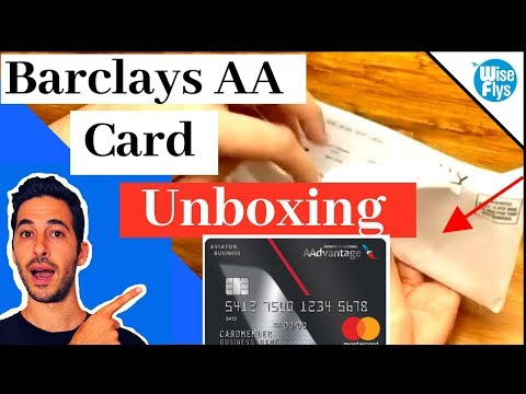 Unboxing Barclays AAdvantage Aviator Business Mastercard