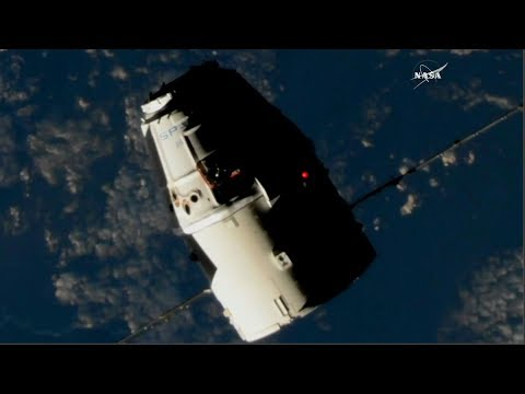 Full Space-X Dragon CRS-13 ISS Resupply Ship Approach And Grapple Coverage