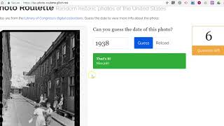 Play Photo Roulette from the Library of Congress