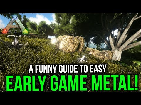 A funny way of How to get alot of metal early game! | ARK: Survival Evolved