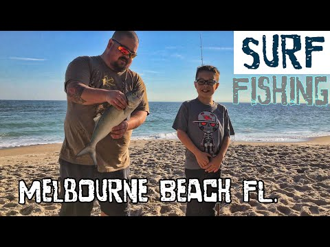 Surf fishing at Melbourne Beach Florida