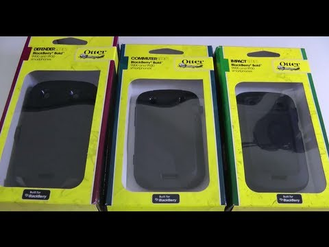 Otterbox Case Group Test for Blackberry Bold 9900 9930 - Defender Commuter & Impact