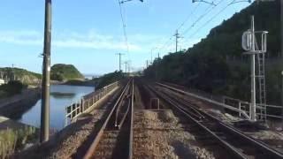 【4K前面展望】肥薩おれんじ鉄道(川内-八代)