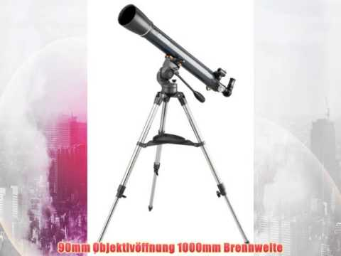 Celestron astromaster 90 az teleskop test youtube