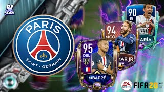 FULL PSG SPECIAL CARD SQUAD BUILDER!! FIFA20 MOBILE