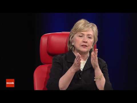 Save Hillary Clinton Describing Barack Obama at Code 2017 Pictures