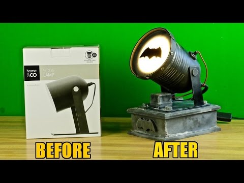 Thumbnail: How to turn a $10 Kmart lamp into a Batsignal!