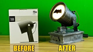 How to turn a $10 Kmart lamp into a Batsignal!