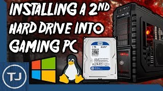 Installing A 2nd Hard Drive Into A Desktop Gaming PC! (Game Storage!)
