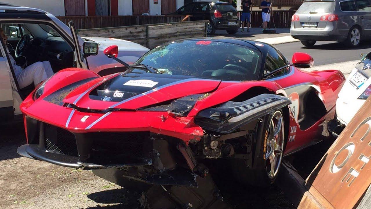 3 Ferrari Laferrari Crashes In 1 Day At Ferrari Cavalcade