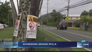 City scrambles to prevent sewer water spills with more stormy weather to come