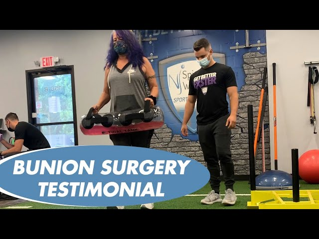 MICHELE'S EXPERIENCE AT NJ SPINE AND WELLNESS - MINIMALLY INVASIVE BUNION SURGERY with DR SAYMEH