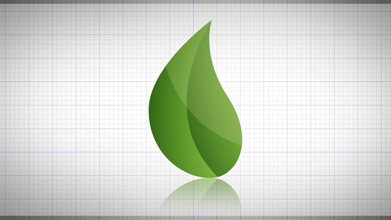How To Create A Leaf In Illustrator - YouTube