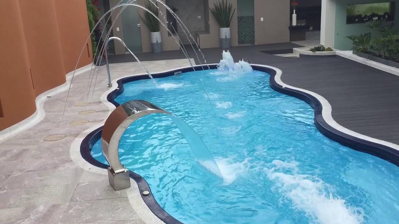 piscinas en fibra de vidrio colombia piscina en fibra de vidrio hidropool 20000 youtube