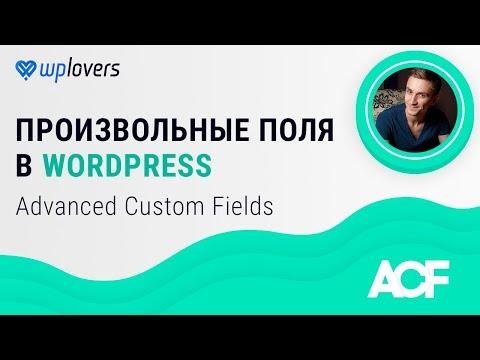 Вывод произвольных полей в wordpress