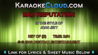 Joan Jett - Bad Reputation (Backing Track)