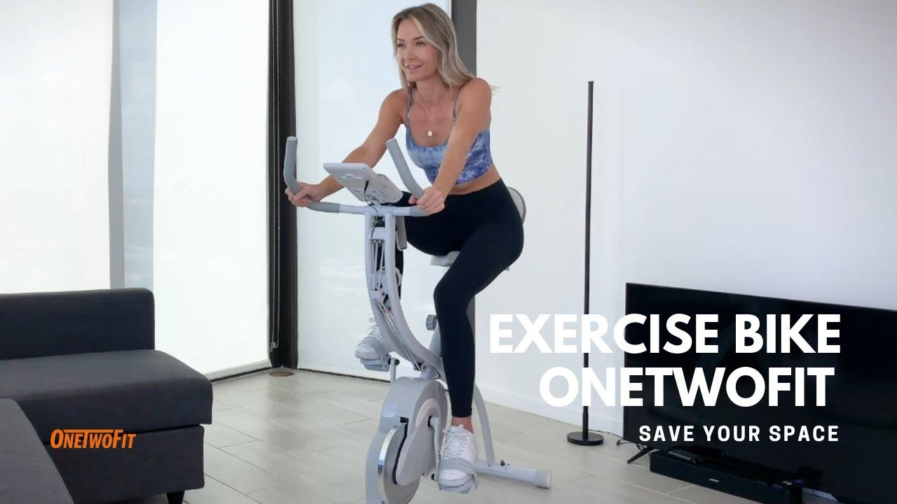 Exercise Bike Indoor Cycling Folding OT202   ONETWOFIT