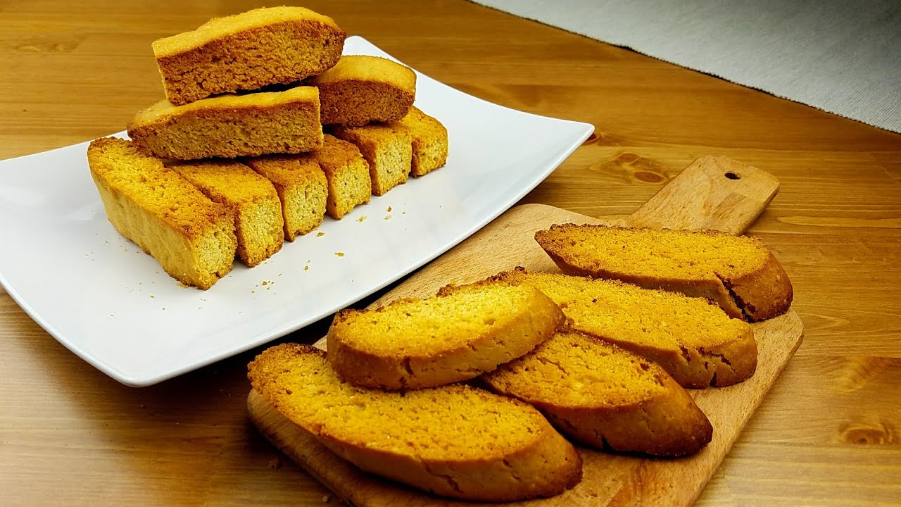 طريقة عمل الشابورة الذيذة بكل أسرارها وخطواتها Cake Rusk Biscotti Youtube