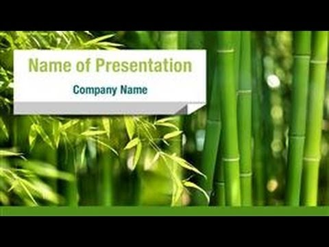 green bamboo grove powerpoint template backgrounds
