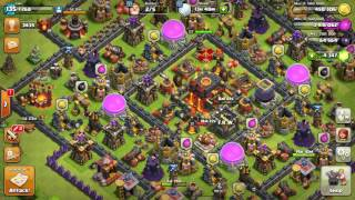Clash of clans th 10 war attack 3 star gowivalky, Mass valkyrie,how to get 3 star on th10 square bas