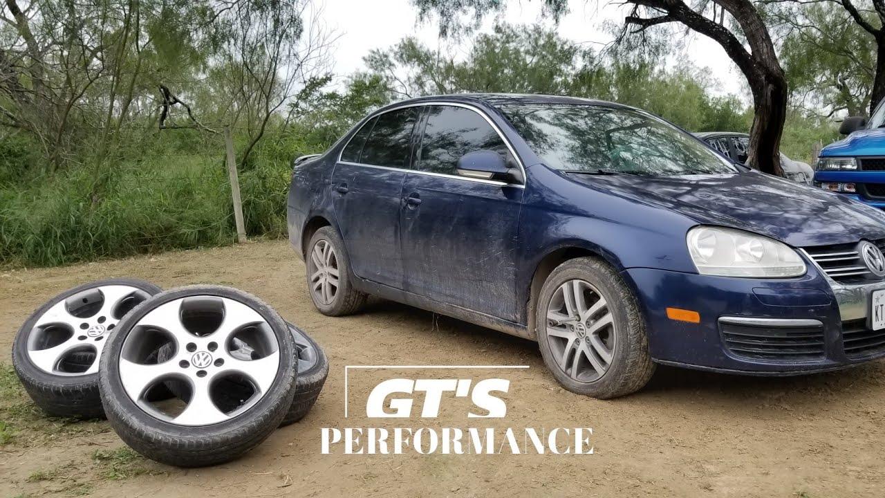 Installing 18 Gti Wheels On The Jetta Mk5 Youtube