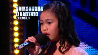 Arisxandra Libantino stuns singing  u0027One Night Only u0027   Week 1 Auditions   Britain u0027s Go