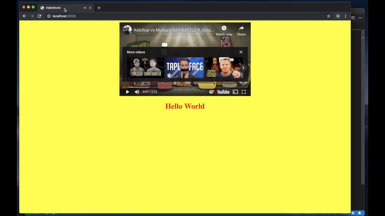 Creating the ugliest hello world website and struggling to setup my computer