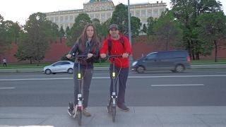 по Москве на самокате Oxelo town 9