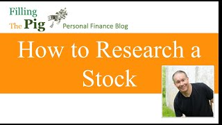 How to Research a Stock using Yahoo Finance