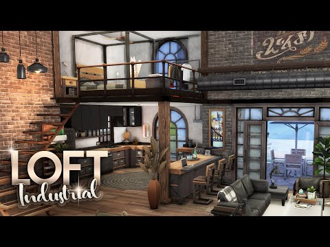 THE INDUSTRIAL LOFT [NO CC] || The Sims 4: Industrial Loft Kit Speed Build