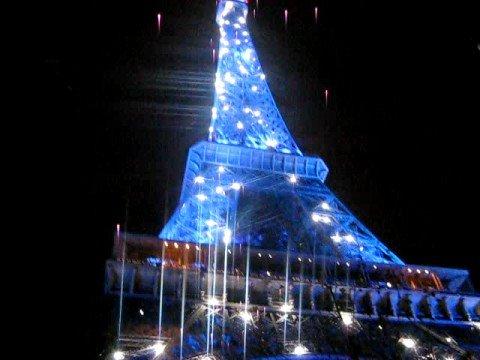 Paris Wallpaper Cute Blue Eiffelturm Bei Nacht Youtube