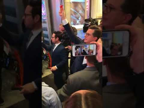 Late Show Audience Get Broadway Play Surprise From Stephen Colbert and JJ Abrams