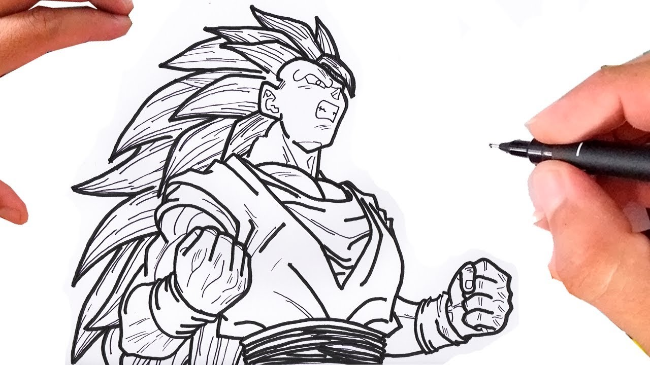 Como Desenhar O Goku Ssj 3 Dragon Ball Z