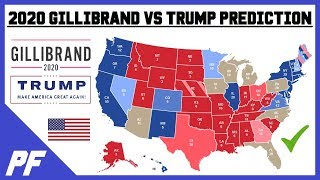 Kirsten Gillibrand vs. Donald Trump 2020 Map Prediction - 2020 Electoral Map Projection