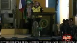 PRESIDENT BENIGNO AQUINO III MEETS THE LOCAL LEADERS IN BULUAN MAGUINDANAO