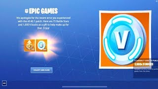 How to Redeem FREE 1,000 V-BUCKS in Fortnite (1,000 V-Bucks + Battle Stars)